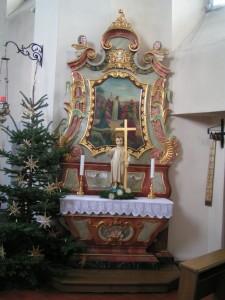Nabočny wołtar/Seitenaltar